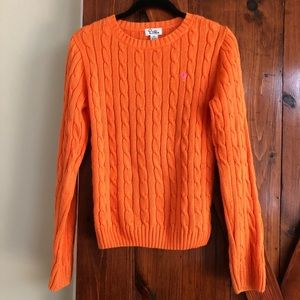 Lilly Pulitzer Orange Cable Knit Sweater